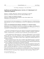 Synthesis and Antiinflammatory Activity of 3-Substituted 4-4 В╨Ж-Thiazolyl-Sydnones.