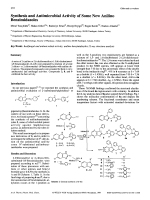Synthesis and Antimicrobial Activity of Some New Anilino Benzimidazoles.