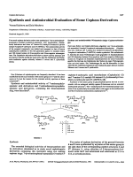 Synthesis and antimicrobial evaluation of some cephem derivatives.
