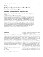 Synthesis and Biological Evaluation of Some Pyrazole Derivatives as Anti-Malarial Agents.