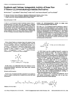 Synthesis and Calcium Antagonistic Activity of Some New 2-Thioxo-1234-tetrahydropyrimidine Derivatives.
