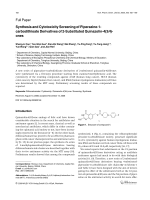 Synthesis and Cytotoxicity Screening of Piperazine-1-carbodithioate Derivatives of 2-Substituted Quinazolin-43H-ones.