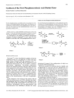 Synthesis of the First Phosphonoretinoic Acid Diethyl Ester.
