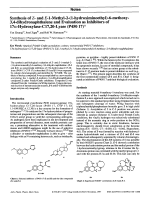 Synthesis of Z- and E-1-Methyl-2-1-hydroximinoethyl-6-methoxy-34-dihydronaphthalene and Evaluation as Inhibitors of 17╨Ю┬▒-Hydroxylase-C1720-Lyase P450 17.