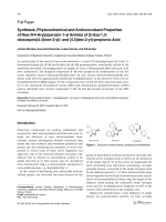 Synthesis Physicochemical and Anticonvulsant Properties of New N-4-Arylpiperazin-1-yl Amides of 2-Aza-13-dioxospiro[4.4]non-2-yl- and [4.5]dec-2-yl-propionic Acid