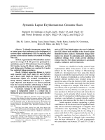 Systemic lupus erythematosus genome scanSupport for linkage at 1q23 2q33 16q1213 and 17q2123 and novel evidence at 3p24 10q2324 13q32 and 18q2223.