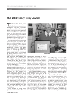 The 2002 Henry Gray Award.