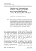 The influence of waterlogging and variations in pedology and ignition upon resultant susceptibilitiesa series of laboratory reconstructions.