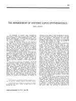 The management of systemic lupus erythematosus.