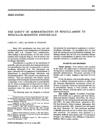 The safety of administration of penicillamine to penicillin-sensitive individuals.
