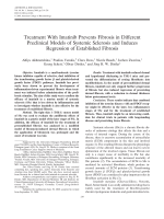 Treatment with imatinib prevents fibrosis in different preclinical models of systemic sclerosis and induces regression of established fibrosis.
