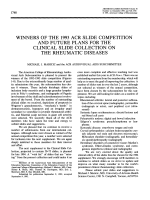Winners of the 1993 acr slide competition and future plans for the clinical slide collection on the rheumatic diseases.