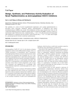 Design Synthesis and Preliminary Activity Evaluation of Novel Peptidomimetics as Aminopeptidase NCD13 Inhibitors.