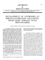 Development of antibodies to ribonucleoprotein following short-term therapy with procainamide.