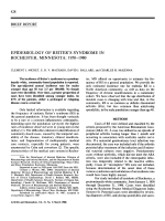 Epidemiology of reiter's syndrome in rochester minnesota19501980.