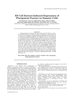 ES Cell Extract-Induced Expression of Pluripotent Factors in Somatic Cells.