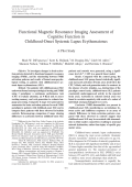 Functional magnetic resonance imaging assessment of cognitive function in childhood-onset systemic lupus erythematosusA pilot study.