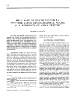 High rate of death caused by systemic lupus erythematosus among U. S. residents of asian descent