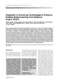 Integration of advanced technologies to enhance problem-based learning over distanceProject TOUCH.