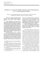 Interferon-╨Ю┬▒ accelerates murine systemic lupus erythematosus in a T celldependent manner.