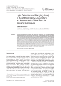 Light detection and ranging lidar in the Witham Valley Lincolnshirean assessment of new remote sensing techniques.