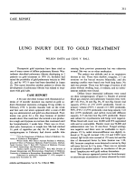 Lung injury due to gold treatment.