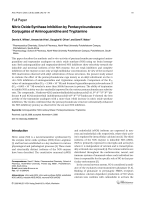 Nitric Oxide Synthase Inhibition by Pentacycloundecane Conjugates of Aminoguanidine and Tryptamine.