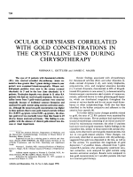 Ocular chrysiasis correlated with gold concentrations in the crystalline lens during chrysotherapy.