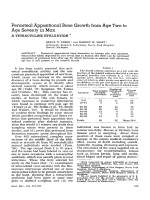 Periosteal appositional bone growth from age two to age seventy in man. A tetracycline evaluation