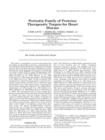 Periostin family of proteinsTherapeutic targets for heart disease.