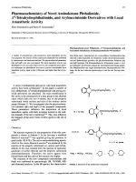 Pharmacochemistry of Novel Aminoketone Phthalimide ╨Ю Э4-Tetrahydrophthalimide and Arylsuccinimide Derivatives with Local Anaesthetic Activity.