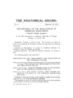Proceedings of the Association of American Anatomists. Twenty-third session
