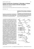 Properties and Reactions of Substituted 12-Thiazetidine 11-DioxidesReactions of 3-Acetoxy- -sultams with Sulfur Nucleophiles.