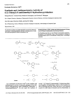 Pyridazine Derivatives VIII1Synthesis and Antihypertensive Activity of 6-2-Thienyl-5-aminomethyl-3-hydrazino-pyridazines.