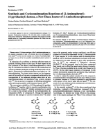Pyridazines LVIISynthesis and Cyclocondensation Reactions of 2-Aminophenyl-4-pyridazinyl-ketone a New Diaza Isoster of 2-Aminobenzophenone.