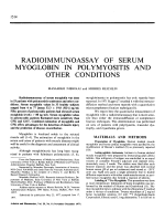 Radioimmunoassay of serum myoglobin in polymyositis and other conditions.
