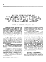 Rapid Assessment of 99MTc-Pertechnetate Uptake in the Knee Joint as a Parameter of Inflammatory Activity.