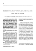 Reproducibility of synovial fluid analyses. A study among four laboratories
