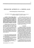 Rheumatoid arthritis in a chippewa band.