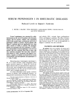 Serum pepsinogen i in rheumatic diseases. reduced levels in sjgren's syndrome