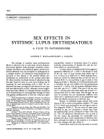 Sex effects in systemic lupus erythematosus. a clue to pathogenesis