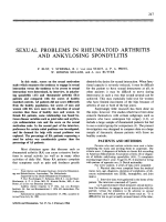 Sexual problems in rheumatoid arthritis and ankylosing spondylitis.