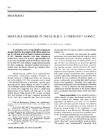 Shoulder disorders in the elderlyA community survey.