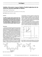 Stability of Suramin in Aqueous Solution Possible Implications for the Search for Suramin Metabolites in Patients.