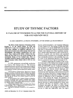 Study of thymic factors. II. Failure of thymosin to alter the natural history of nzb and nzbnzw mice