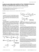 Synthesis and Antibacterial Activities of New 1 -Methylcarbapenems Having a 13-Diazabicyclo[3.3.0]octan-24-dione Moiety