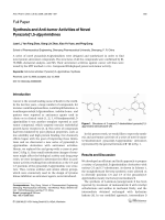 Synthesis and Anti-tumor Activities of Novel Pyrazolo[15-a]pyrimidines.