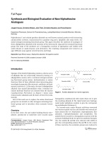 Synthesis and Biological Evaluation of New Niphathesine Analogues.
