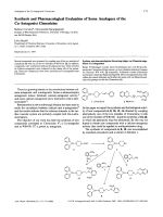 Synthesis and Pharmacological Evaluation of Some Analogues of the Ca-Antagonist Cinnarizine.