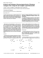 Synthesis and Preliminary Pharmacological Study of Thiophene Analogues of the Antipyretic and Analgesic Agent Ethenzamide.